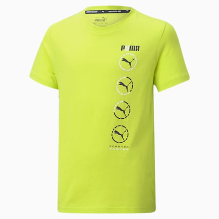 Active Sports Graphic Youth Tee, Nrgy Yellow, small-SEA