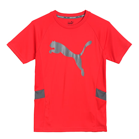 Active Sports Cat Kid's   T-shirt, High Risk Red, small-IND