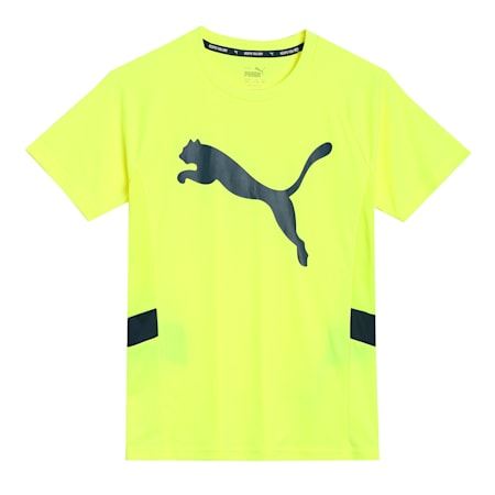 Active Sports Cat Kid's   T-shirt, Yellow Alert, small-IND