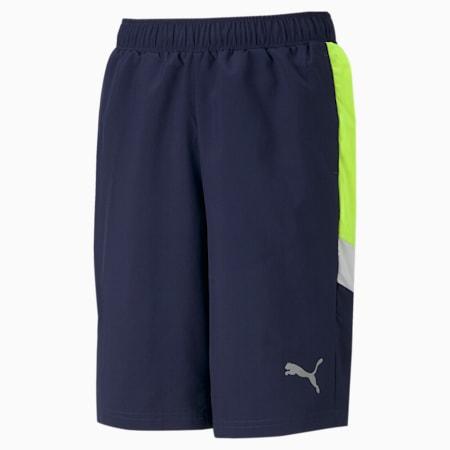 Active Sports Woven Youth Shorts, Peacoat, small-SEA