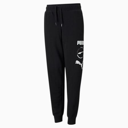 Alpha Youth Sweatpants, Puma Black, small-GBR