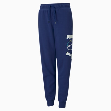 Alpha Youth Sweatpants, Elektro Blue, small