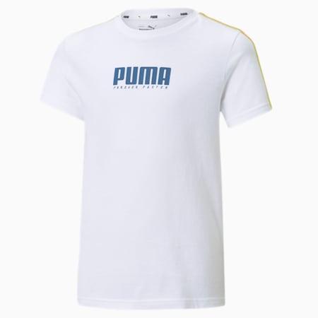 T-shirt Alpha Youth, Puma White, small