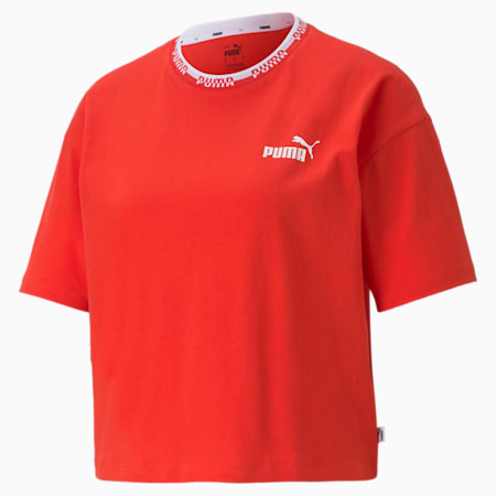 Amplified Women's Relaxed T-shirt, Poppy Red, small-IND