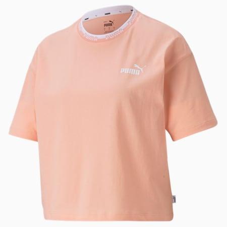 Amplified Women's Tee, Apricot Blush, small-SEA