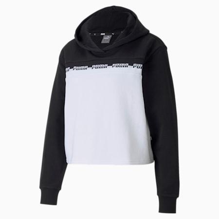 Sudadera corta con capucha para mujer Amplified, Puma Black, small