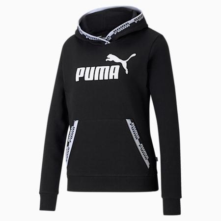Chaqueta con capucha Amplifiedpara mujer, Puma Black, pequeño