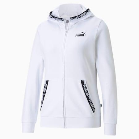 Amplified Full-Zip Women's Hoodie, Puma White, small-GBR