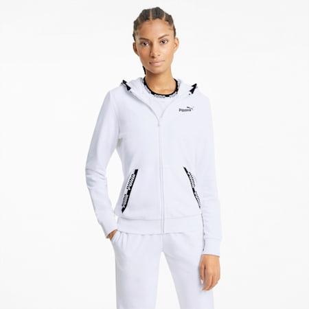 Amplified Full-Zip Women's Hoodie, Puma White, small