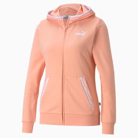 Amplified Full-Zip Women's Hoodie, Apricot Blush, small-GBR