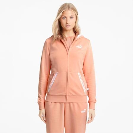 Amplified hoodie met volledige ritssluiting dames, Apricot Blush, small
