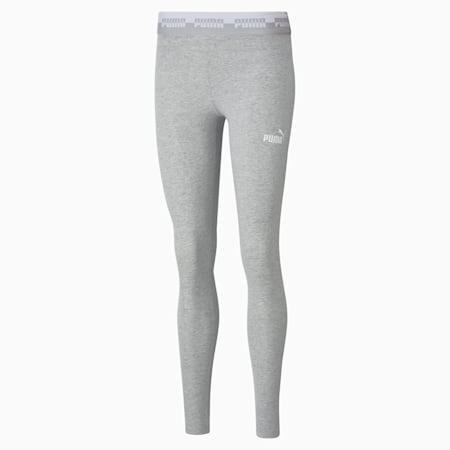 Amplified Women's Leggings, Light Gray Heather, small-IND