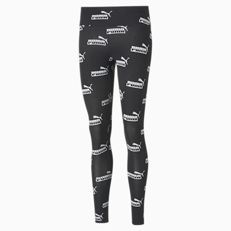Amplified Printed Women's Leggings, Puma Black, small