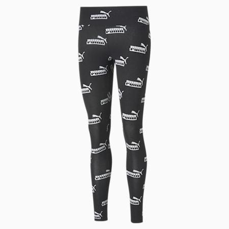 Amplified Printed Women's Leggings, Puma Black, small-IND