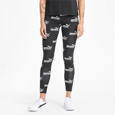 Amplified Printed Damen Leggings, Puma Black, small