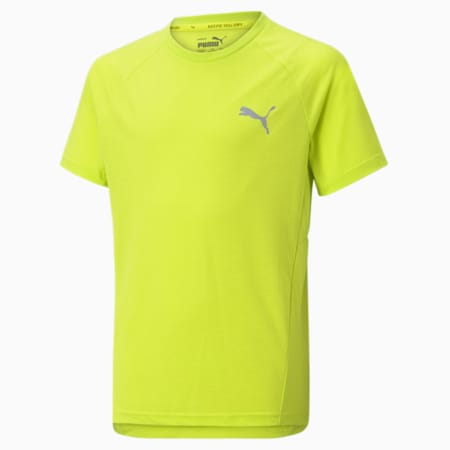 Evostripe Kid's   T-shirt, Nrgy Yellow, small-IND