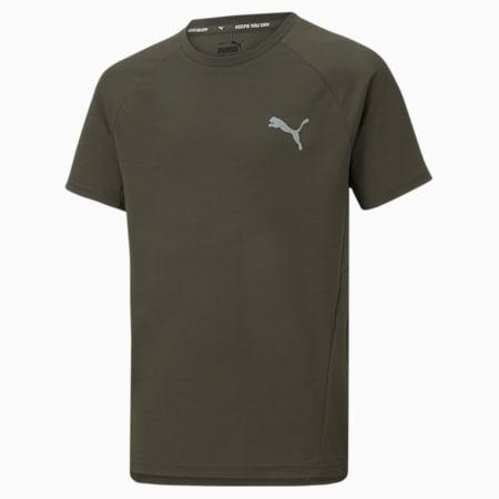 Młodzieżowy T-shirt Evostripe, Forest Night, small