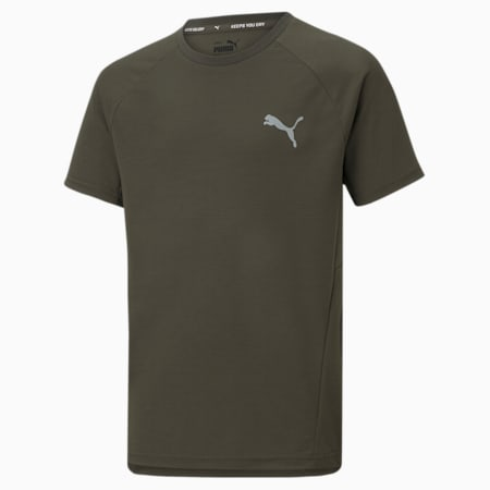 T-shirt Evostripe Youth, Forest Night, small