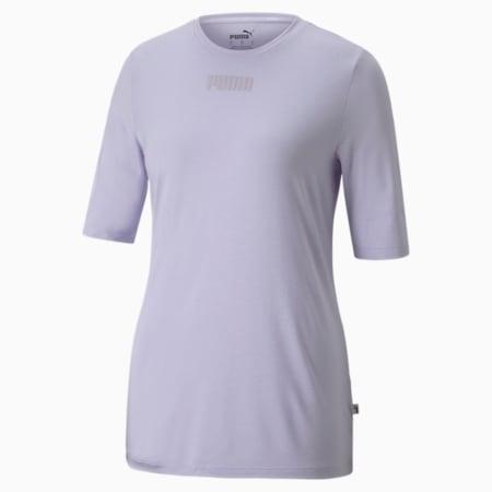 Modern Basics Women's Slim T-shirt, Light Lavender, small-IND