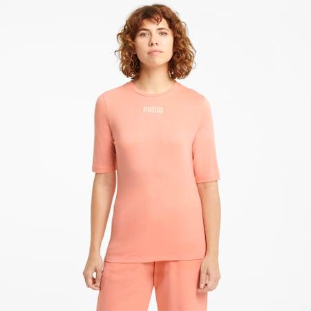Damski T-shirt Modern Basics, Apricot Blush, small