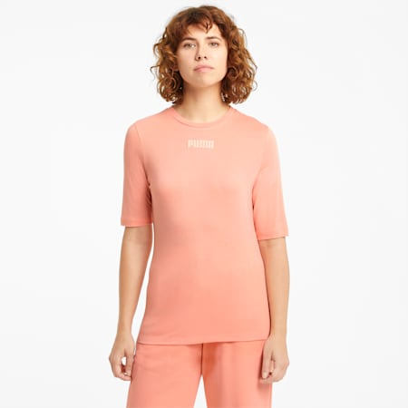 T-shirt Modern Basics donna, Apricot Blush, small