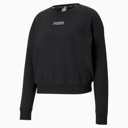 Modern Basics Crew Neck Women's Sweatshirt, Puma Black, small