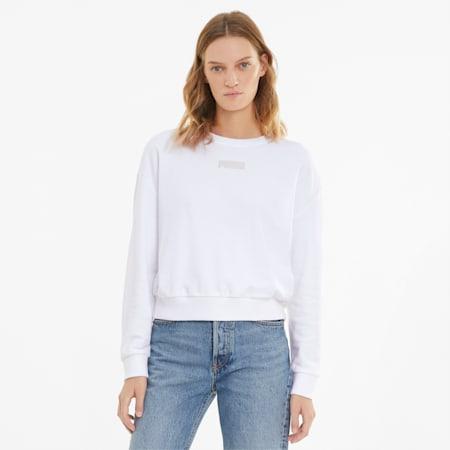 Modern Basics Crew Neck Women's Sweatshirt, Puma White, small