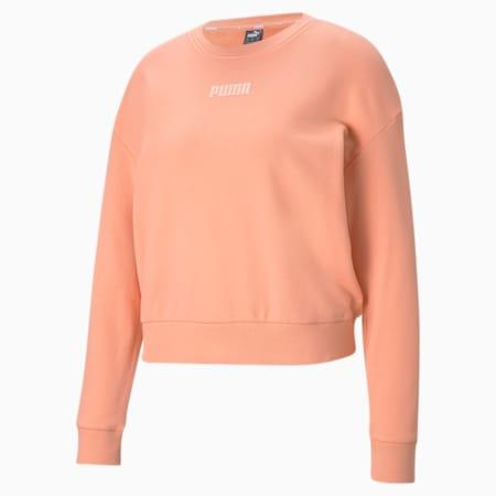 Modern Basics Crew Neck Women's Sweatshirt, Apricot Blush, small