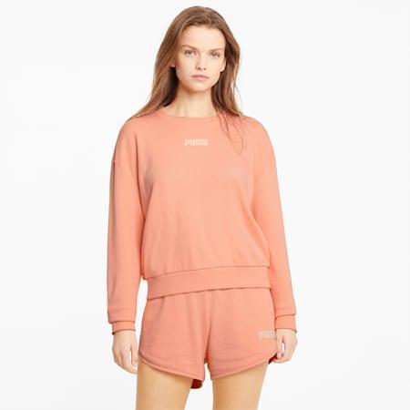 Felpa girocollo Modern Basics donna, Apricot Blush, small