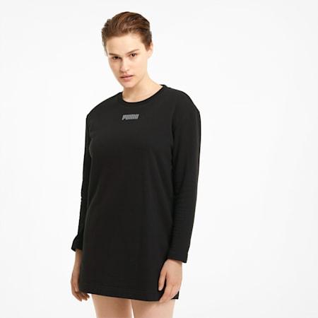 Modern Basics Damen Kleid mit Rundhalsausschnitt, Puma Black, small