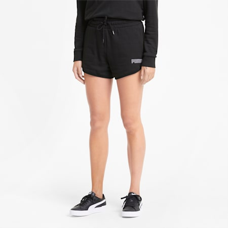 Modern Basics High Rise Women's Shorts, Puma Black, small