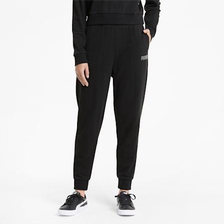 Modern Basics Damen Trainingshose mit hohem Bund, Puma Black, small