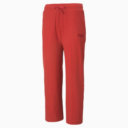Pantalones de corte ancho Modern Basicspara mujer, American Beauty, pequeño