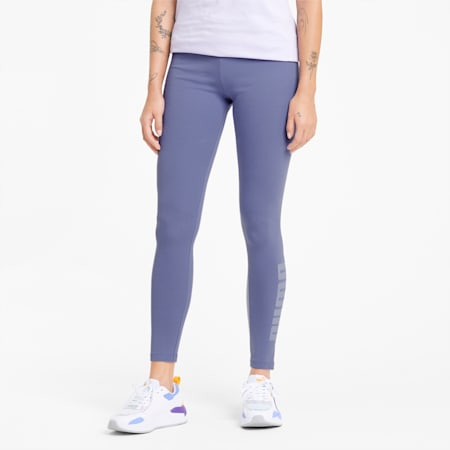 Modern Basics Damen Leggings mit hohem Bund, Hazy Blue, small