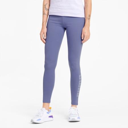 Modern Basics High Waist Women's Leggings, Hazy Blue, small
