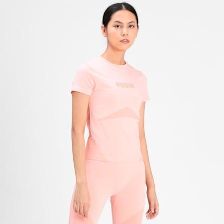 Evostripe evoKNIT Women's Tight T-shirt, Apricot Blush, small-IND