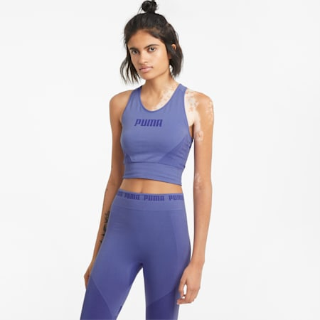 Evostripe evoKNIT Women's Bra Top, Hazy Blue, small-GBR