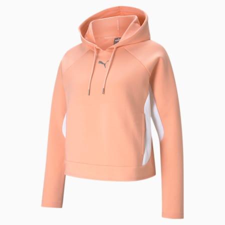 Evostripe Women's Hoodie, Apricot Blush, small-GBR