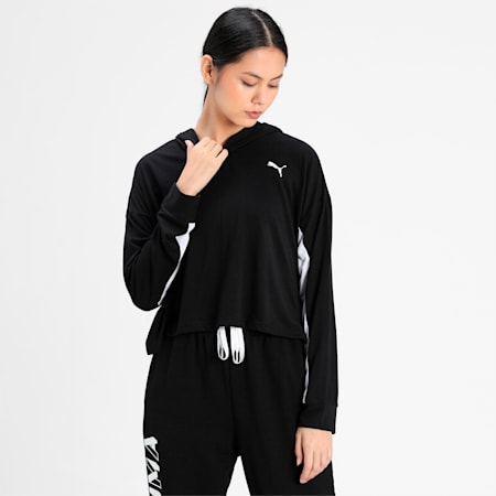 Modern Sports Light Women's Hoodie, Puma Black, small-IND