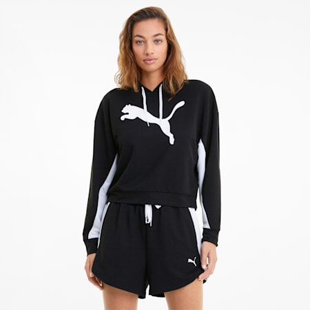 Modern Sports Women's Hoodie, Puma Black, small-GBR