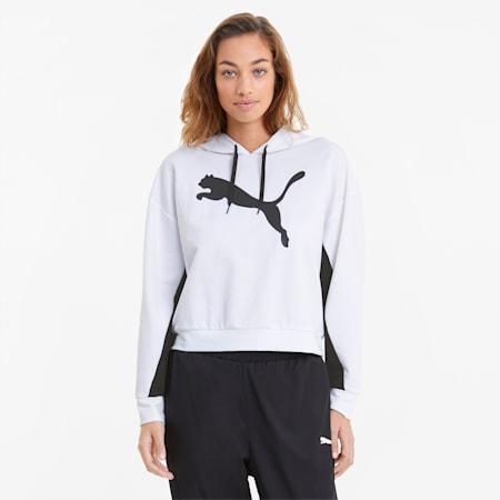 Felpa con cappuccio Modern Sports donna, Puma White, small