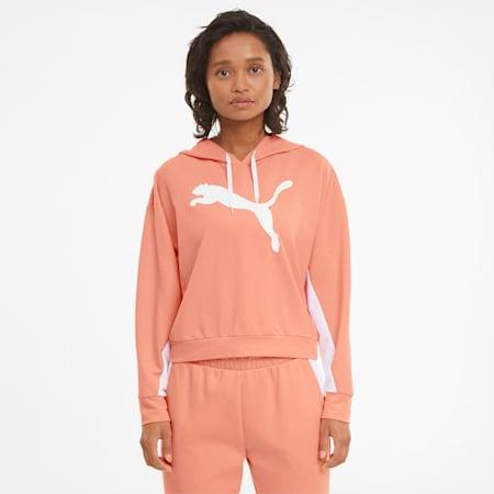Felpa con cappuccio Modern Sports donna, Apricot Blush, small