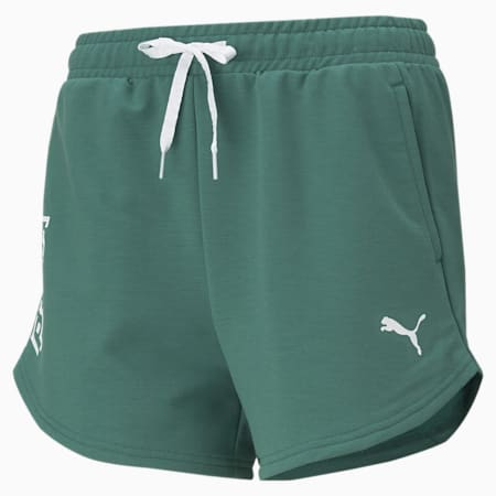 Modern Sports Women's Relaxed Shorts, Blue Spruce, small-IND