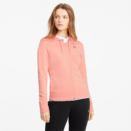 Classic Hooded Women's Tracksuit, Apricot Blush, small-GBR