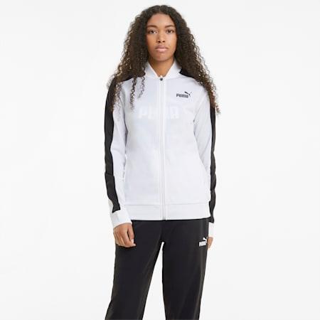 Tuta sportiva da baseball con finitura tricot donna, Puma White, small
