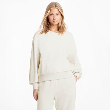 HER Crew Neck Women's Sweater, Puma White Heather, small-GBR