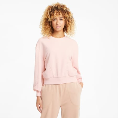 HER sweater met ronde hals dames, Peachskin, small