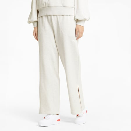 HER Wide Women's Sweatpants, Puma White Heather, small