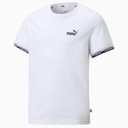 Młodzieżowy T-shirt Amplified, Puma White, small