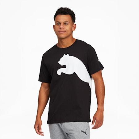 Men's Oversized Logo Tee, Puma Black, small